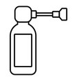 inhaler icon outline style vector image