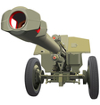 large old gun vector image vector image