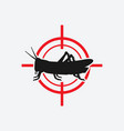 locust icon red target vector image vector image