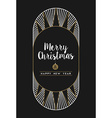 Merry christmas happy new year art deco frame card vector image vector image