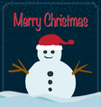 Merry Christmas snowman background vector image