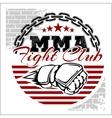 MMA mixed martial arts emblem badges vector image vector image