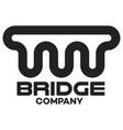 modern bridge logo vector image