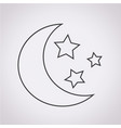 moon star icon vector image