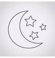 moon star icon vector image