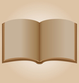Old open book vector image