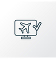 online check-in icon line symbol premium quality vector image vector image