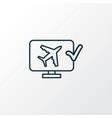 online check-in icon line symbol premium quality vector image