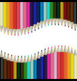 pencils multicolored abstract background vector image vector image