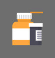 pills bottle icon medical treatment concept vector image