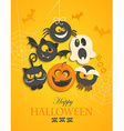 Poster banner for Halloween Party Night vector image