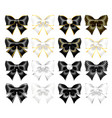 realistic black and white bows vector image vector image