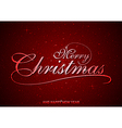 Red Merry Christmas Greeting vector image vector image