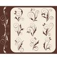 retro floral elements vector image vector image