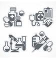 Set of medicines symbols vector image vector image