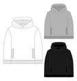 set technical sketch for men hoodie template vector image vector image