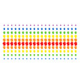 soldier helmet shape halftone spectrum pattern vector image vector image