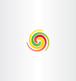 spiral circle colorful business abstract logo icon vector image vector image