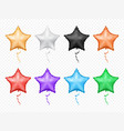 star shape color balloons with stripes isolate st vector image