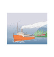 Steamship Steamboat Vintage vector image vector image