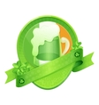 Sticker Green Beer St Patricks Day vector image