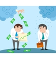 Successful and failed businessman characters vector image