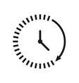 time icon time and watch timer symbol ui web logo vector image