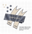 Top Sale paper banner Sale background Big sale vector image vector image