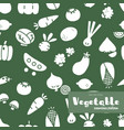 vegetable hand draw seamless pattern vector image vector image