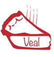 warm veal pie vector image vector image