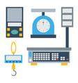 weight measurement instrumentation tool vector image vector image