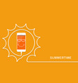 white phone charging fun sun summertime vector image vector image