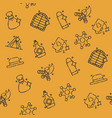 wild west concept icons pattern vector image vector image