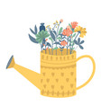 with a beautiful bouquet in the vector image