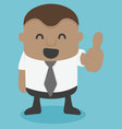 Young African businessman thumbs vector image