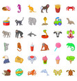 zoo icons set cartoon style vector image vector image