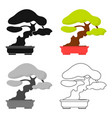 bonsai icon in cartoon style isolated on white vector image