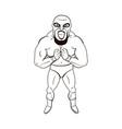 mexican wrestler in cartoon style vector image