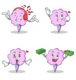 cotton candy character set with listening call me vector image