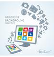 tablet pc copy file computer vector image