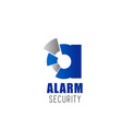 alarm security company letter a icon vector image vector image