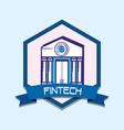 bank building fintech icon vector image