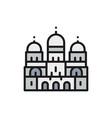 basilica sacred heart landmark paris vector image
