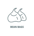 bean bags line icon bean bags outline vector image vector image