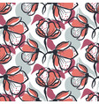 bold hand drawn flower seamless pattern in vector image vector image