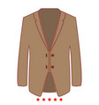 business suit icon flat style vector image vector image