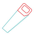 carpentry tool instrument saw icon vector image vector image