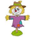 cartoon scarecrow vector image vector image