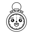 chronometer measure kawaii character vector image vector image