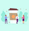 coffee break concept in flat vector image